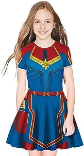 Tsyllyp Toddler Girls Superhero Captain Dress Endgame Quantum Realm Halloween Costume Dresses