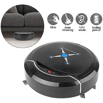 QYLT Aspirador de Robot, Robot de Limpieza automático, Superfino, Succión Fuerte de 1500Pa, Sensor de caída, Limpiador Automático de Pisos por aspiración de Robot Inteligente (Negro): Amazon.es: Hogar