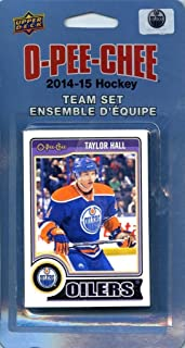 Edmonton Oilers 2014 2015 O Pee Chee NHL Hockey Brand New Factory Sealed 16 Card Licensed Team Set Made By Upper Deck Including Ryan Nugent Hopkins, Nail Yakupov, Taylor Hall and Others