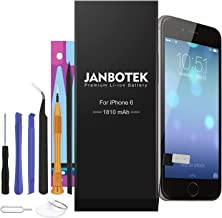 JANBOTEK 1810mAh Replacement iP6 Battery Compatible with iPhone 6 Including Repair Tool Kits, Adhesive Strip - 24 Month Warranty