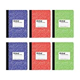 Oxford Composition Notebook 6 Pack, College Ruled Paper, 9-3/4 x 7-1/2 Inches, 100 Sheets, Assorted Marble Covers. 2 Each: Blue, Green, Red (63763)
