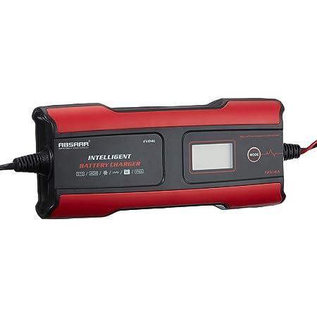 Absaar 158004 Batterieladegerät Evo 4 Lithium 6 12v Rot Schwarz 4a Auto