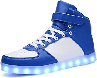 BY0NE Unisex USB Charging LED Light up Shoes Sports Dancing Sneakers for Women Men