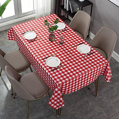 XXDD Mantel de patrón de verificación Simple Rectangular Cubierta de Escritorio Cuadrada Mantel Impermeable decoración de Mesa Mesa A4 150x210cm