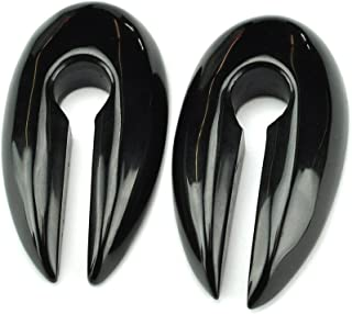 Pair of Large Keyhole Stone Ear Weights (5/8