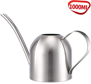 Asvert Stainless Steel Watering Can Pot Modern Style For House Plant Watering with Comfort Handle Long Spout Strong Body for in/Outdoor