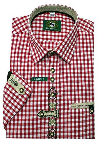 Unbekannt Orbis Trachtenhemd rot weiß XL