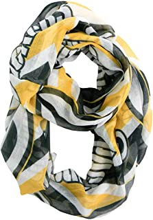 LE NFL Sheer Infinity Scarf Chevron Pattern (Green Bay Packers)