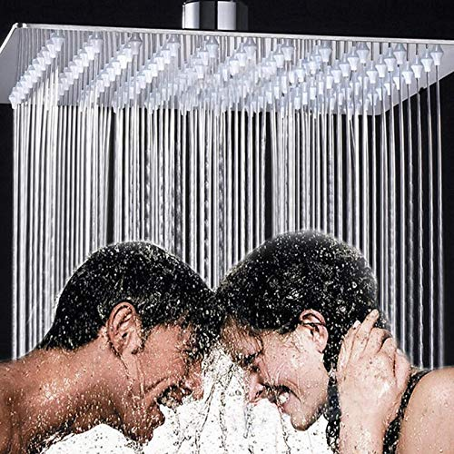 Duschkopf 12 Zoll Dusche Kopf Platz Edelstahl Ultra-dünne Dusche Düse Regenzeuge Familie Pack Wand-mount Top Dach
