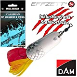 Angel-Berger Dam Effzett Kraut Blinker alle Modelle Stahlvorfach (Silber/Gold, 22g)