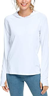 Safort Women's UPF 50+ Sun Protection Hoodie Long Sleeve T-Shirt for Running, Fishing, Hiking