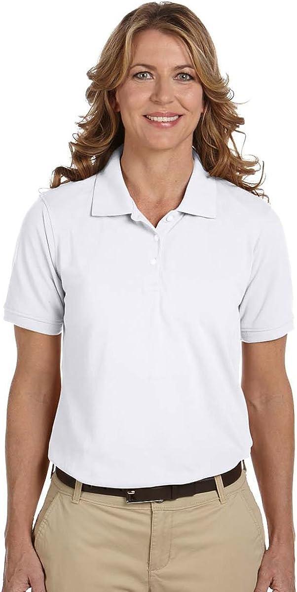 Harriton Ladies' 5 oz. Easy Blend Polo>3XL WHITE M265W