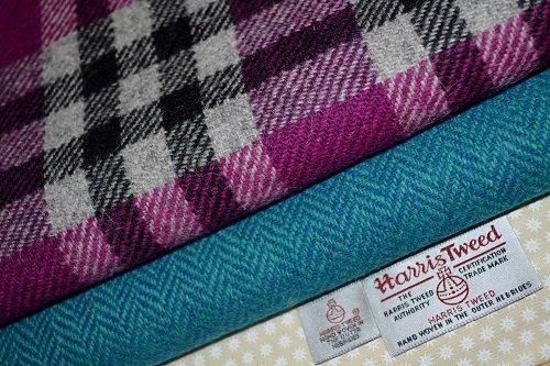 Harris Tweed Stoff 100% reine Schurwolle gemischt Bundle 2x 50/35,5auch als M & Hälfte...