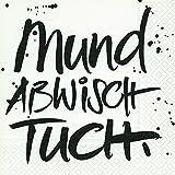 20 Servietten Mundabwischtuch / Sprüche / Geburtstag / Taufe 33x33cm -