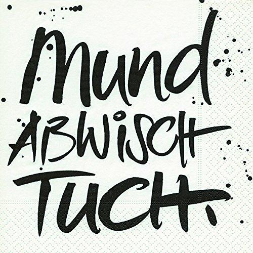 20 Servietten Mundabwischtuch / Sprüche / Geburtstag / Taufe 33x33cm