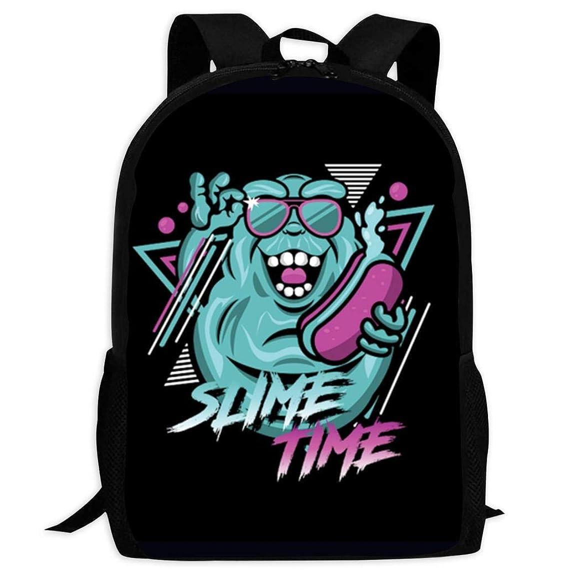 スチュアート島スパイラル機械的3D Slimetime スクールバッグボトルサイドポケット付きの子供のバックパックの軽量ファッションの女の子