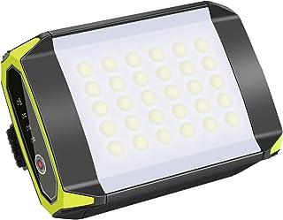 QLM LEDランタン キャンプライト LED投光器 パワーバンク機能付き 6000mAhモバイルバッテリー 30ヶled電球 明らかさ3段調整 2種類SOSモード 5時間充電 最大約45時間連続照明 USB充電式 IP65 防水防塵 軽量 懐...