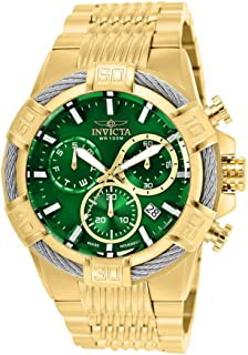 Men's Bolt Quartz Watch with Stainless-Steel Strap, Gold, 16 (Model: 25869)