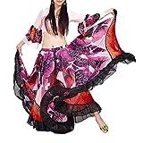 BellyLady Falda Gypsy Tribal Rosada De 25 Yardas