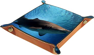KAMEARI Skórzana taca rekin wzór klucz telefon moneta pudełko skóra bydlęca taca na monety praktyczne pudełko do przechowy...