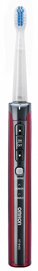 ソートる実現可能性OMRON オムロン音波式電動歯ブラシ メディクリーン HT-B453-R レッド