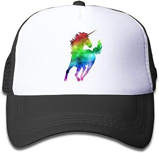 Waldeal Rainbow Galaxy Unicorn Boys Girls Mesh Cap Baseball Hat Cap  Adjustable 4a6a2499620c