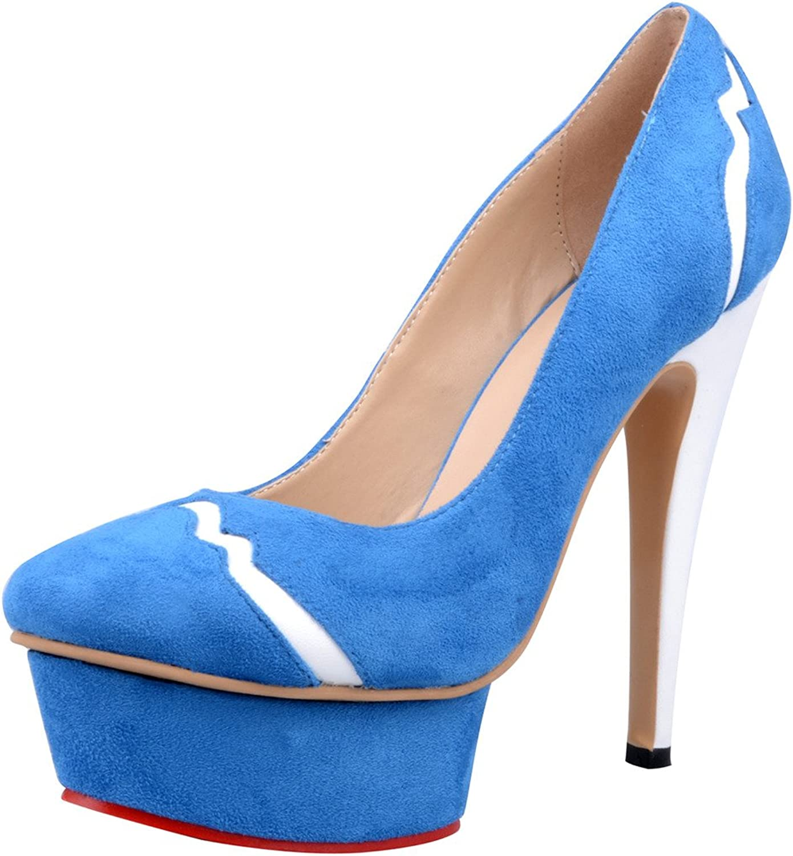 Calaier Womens Caseventy Sexy Wedding Ladies Modern Round Toe 14CM Stiletto Slip on Pumps shoes