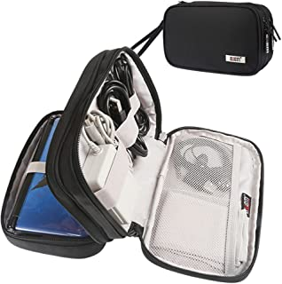 BUBM Portable Nintendo 3DS/3DSXL/3DSLL/New3DSXL Carrying Case Storage Bag, Double Layer Compartment Travel Organizer for Game Console, Game Cards, cables, charger-Black