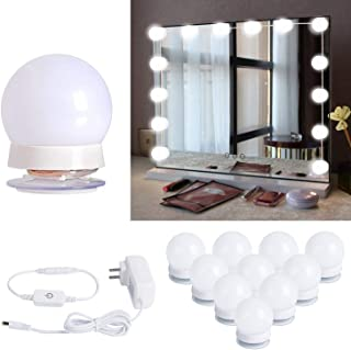 Hollywood Style Led Vanity Mirror Lights Kit with 10 Dimmable Light Bulbs for Makeup..
