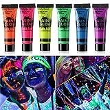 Best Glow In The Dark Body Paints - GARYOB Glow in Dark Face Body Paint UV Review