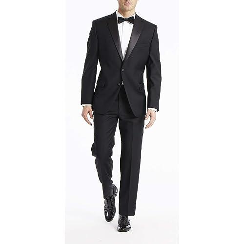3d520a3185cf Calvin Klein Men's, Modern Fit 100% Wool Tuxedo