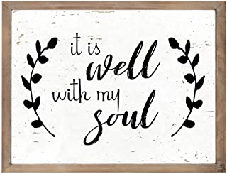 It Is Well With My Soul Vintage Wooden Wall Decor Framed Wooden Signs With Sayings