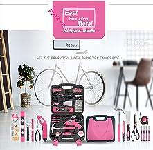 Mujer Rosa Conjunto De Herramientas Para El Hogar Taladro Mano Portátil Litio Multifunción Kit Reparación Hardware Paquete Combinado Mixto Manuales Con Caja Plástico Estuche Almacenamiento,Pink40