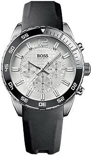 Hugo Boss Deep Blue Silver Dial Black Strap Mens Watch 1512805