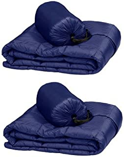 Double Black Diamond Packable Down Throw - Ultra Light 60 Inch X 70 Inch, Stuff Sack Included (Dark Blue), 2-pack