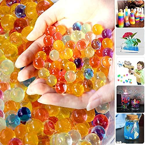 Bolas de Gel de Agua,50000 Piezas Perlas de Agua, Perlas de Agua para niños, Perlas de Agua para Plantas,Bolas de Hidrogel para Niño para Relleno Florero Decoración de Plantas,Decoraciones del Hogar