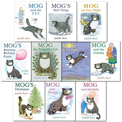 Judith Kerr Mog the Cat 7 Books Collection Pack Set RRP: £46.93 (Mog's Amazing Birthday Caper, Mog the Forgetful Cat, Mog's Bad Thing, Mog and the Baby, Mog and the V.E.T., Mog and Bunny, Mog and the Granny)