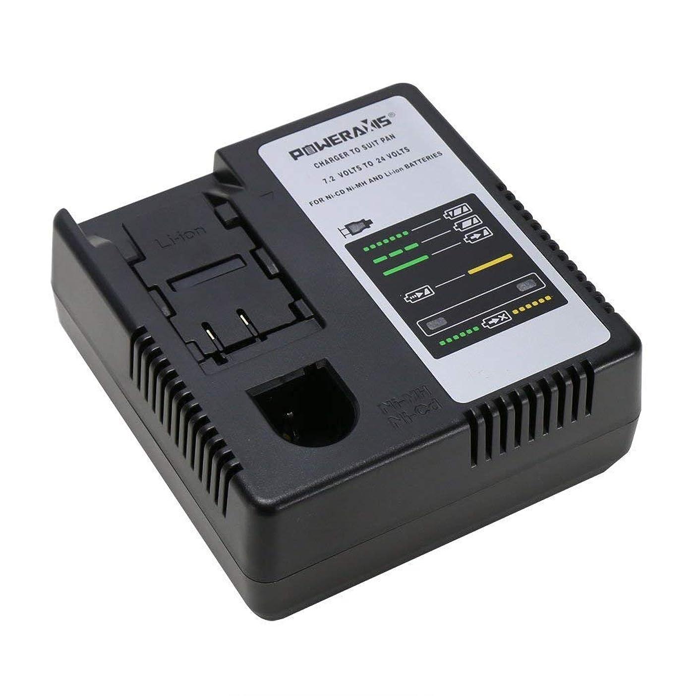 【 POWERAXIS 】【改良版】パナソニック Panasonic 7.2V~24V Ni-CD Ni-MH Li-ion 充電器 電動工具バッテリー 互換用 チャージャー
