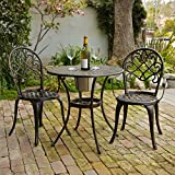 Christopher Knight Home 234795' Angeles CKH Outdoor Metal Bistro Set, Copper