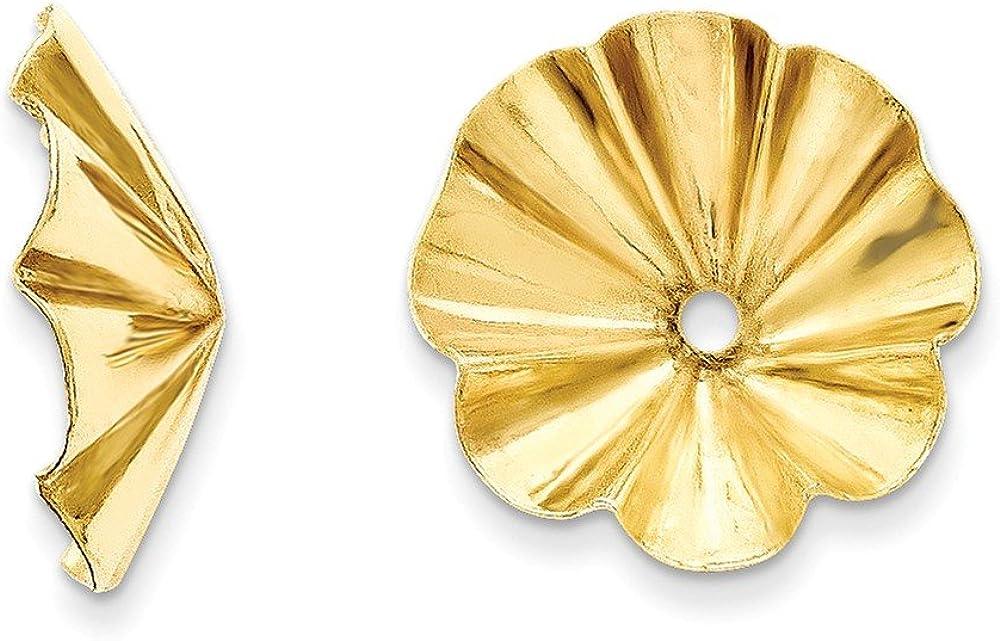 14k Polished Fancy Earring Jackets