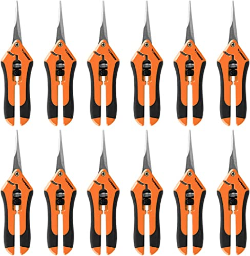 wholesale VIVOSUN 12-Pack 6.5 Inch Gardening Hand Pruner Pruning outlet online sale Shear with Straight Stailess Steel wholesale Blades Orange online