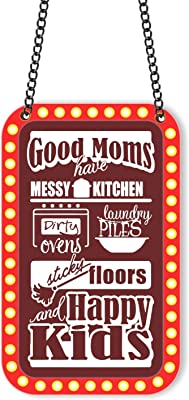 Yaya Cafe for Good Moms Have Messy Kitchen Happy Kids Kitchen Wall Hanging