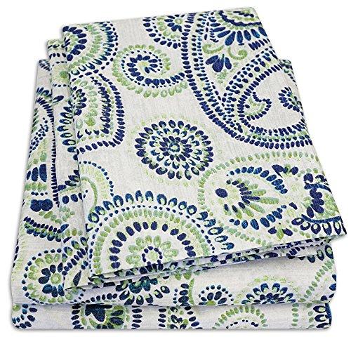 1500 Supreme Collection - Juego de sábanas con estampado de cachemira (1500 unidades, tamaño completo)