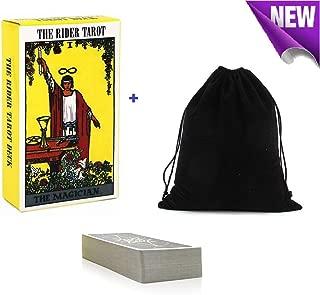 Smart Electronic Solutions Tarot Cards Set Rider Waite Tarot Cards Deck with Book English Manual 78 Tarot Cards with Velvet Bag