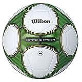 Wilson Ballon de Football Extérieur et intérieur, Surface rugueuse, Sol synthétique, Résistant à l'eau, Taille 8, De 12-14 ans, EXTREME RACER, Vert/Blanc, WTE8716XB04