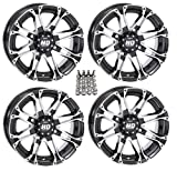 "STI HD3 ATV Wheels/Rims Machined 14"" Honda Rincon Yamaha Rhino Kawasaki Brute Force Suzuki KingQuad"