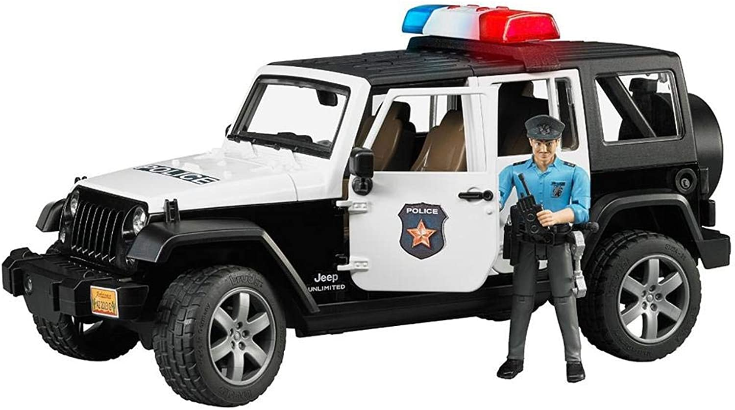AGROAMBIENTE Toy playback Jeep Wrangler Unlimited Rubicon police car, L & D and policeman