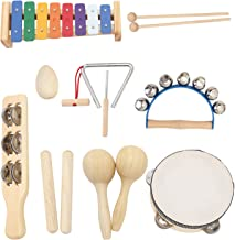MUSICUBE Musical Instrument Set for Toddler Baby Kid Wooden Percussion Instrument Musical Toys Xylophone Maracas Egg Shake...