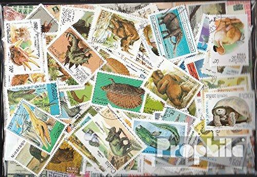 Prophila Collection Motivazioni 300 Diversi Preistorici Animali Francobolli (Francobolli per i Collezionisti) Anfibi / rettili / Dinosauro