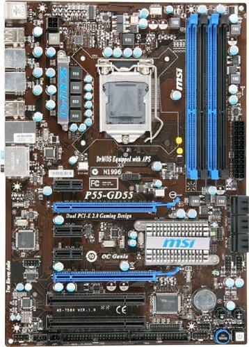 MSI Mainboard P55-GD55 Intel P55 Sockel 1156 DDR3 Speicher 2xPCI-e 2.0 ATX